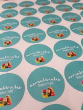 37mm Round Matt Paper Stickers - Your Custom Image Printed